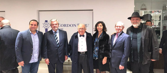 Nouhad Dammous is honored by Le Cordon Bleu for his lifetime contributions to hospitality
