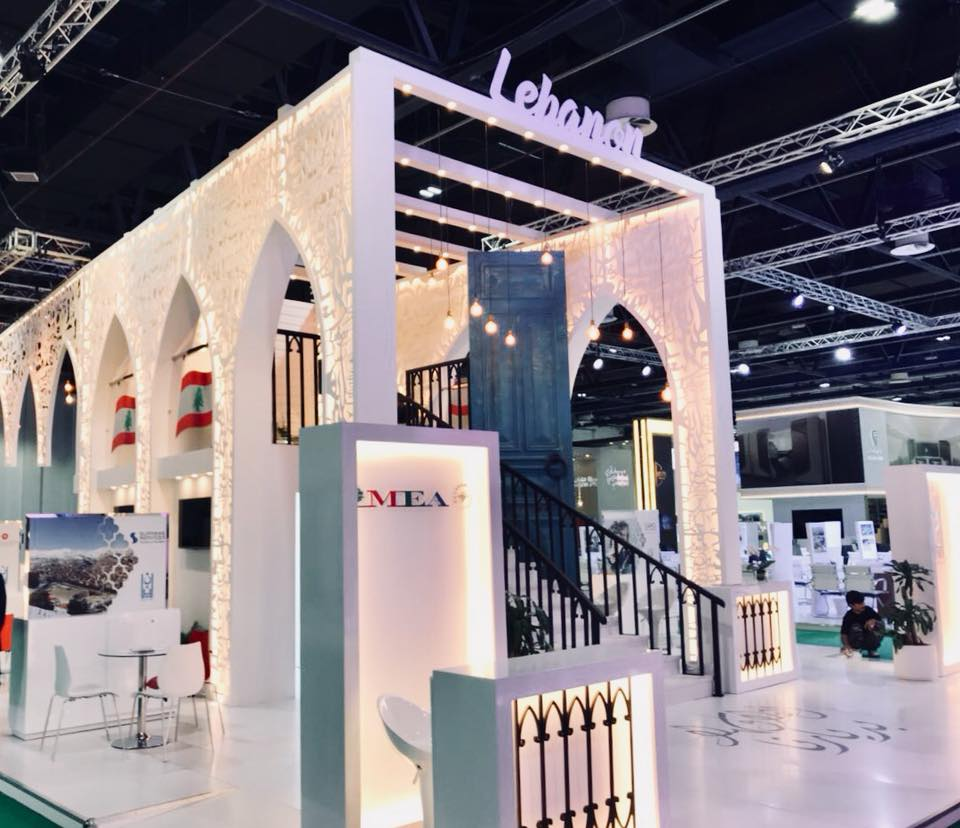 Exhibition Stand Corner : Lebanon won 'best stand design at atm dubai tourism