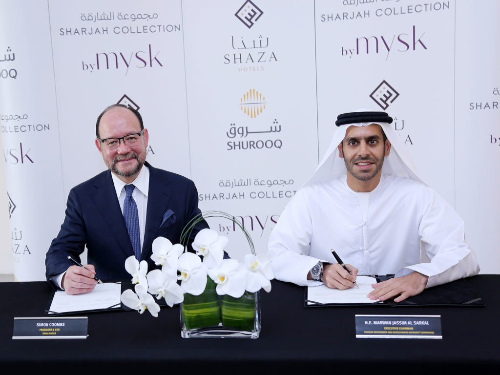 During the official announcement by Shurooq and Shaza Hotels at the 53rd ITB Berlin 2019