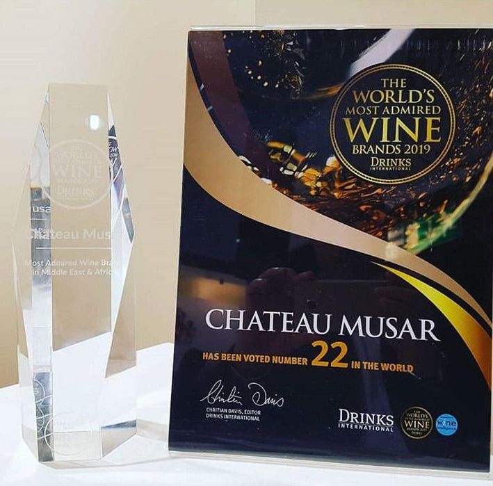 Château Musar, Lebanon scooped The Most Admired Wine Brand in the Middle East and Africa