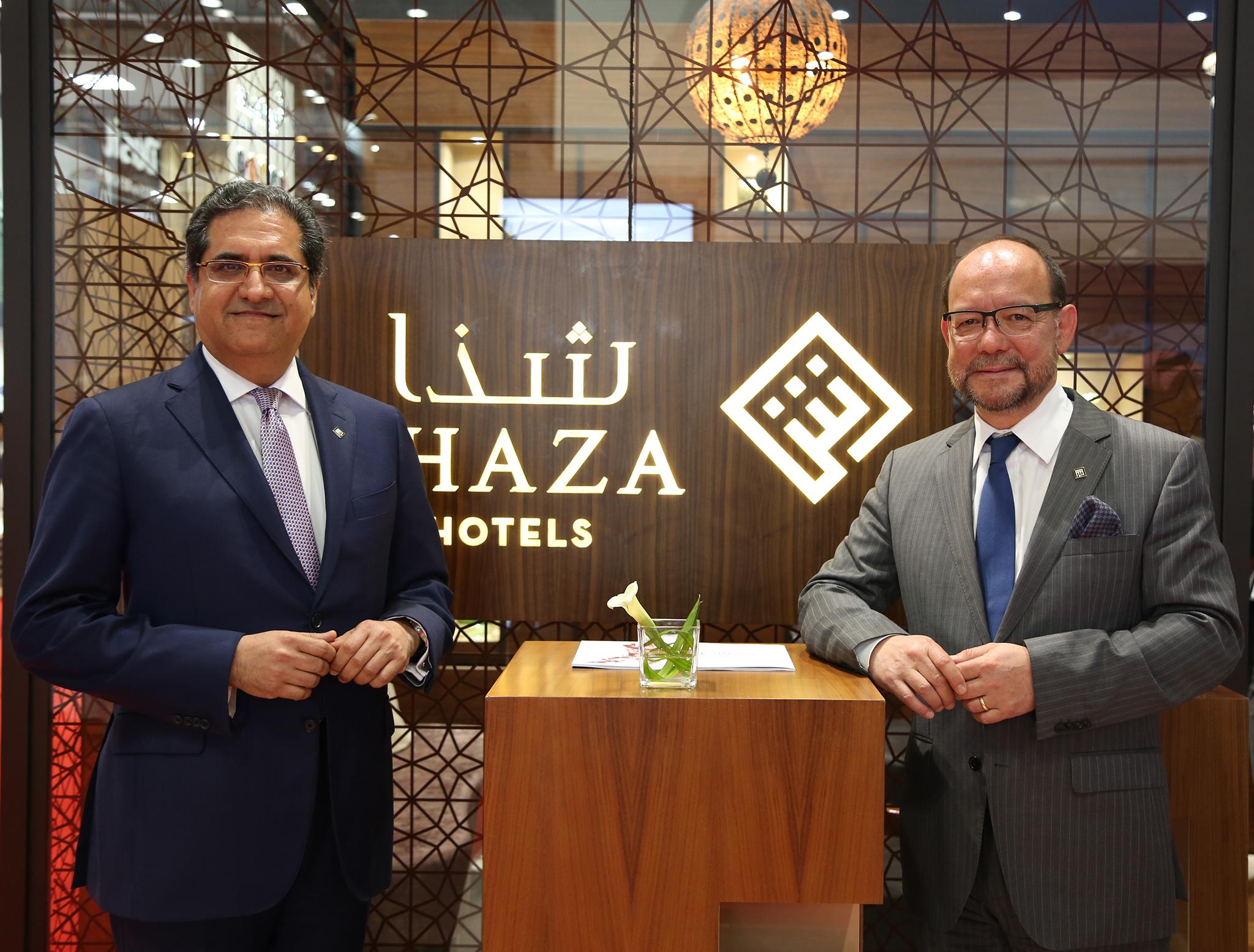 Mr. Simon Coombs President and CEO of Shaza Hotels and Mr. Sanjiv Malhotra, Executive Vice President for Shaza Hotels