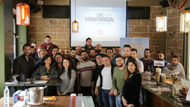 Over 30 bartenders gather in preparation for HORECA's Lebanese Bartenders Competition