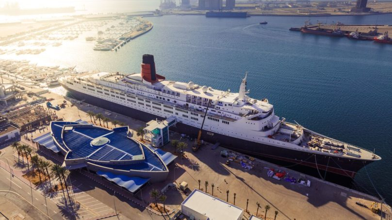 The Queen Elizabeth 2 vessel will open to public tomorrow with a variety of lodging and dining facilities
