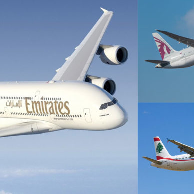 Emirates and Qatar Airways among TripAdvisor's Top 10 airlines worldwide, Middle East Airlines second best in the region