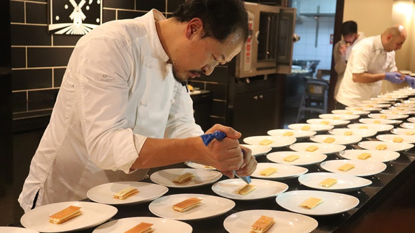 'Wadi Rum', a special dish by Michelin star chef Degeimbre for Intercontinental Jordan