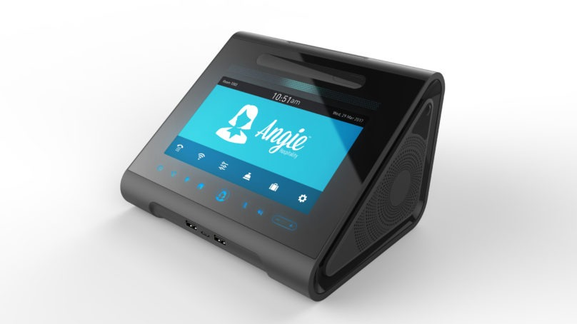 Interactive voice- and touch-activated functionality for enhanced guest room automation