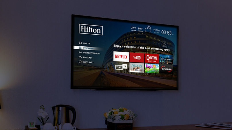 Hilton partners with Netflix, launches Connected Room