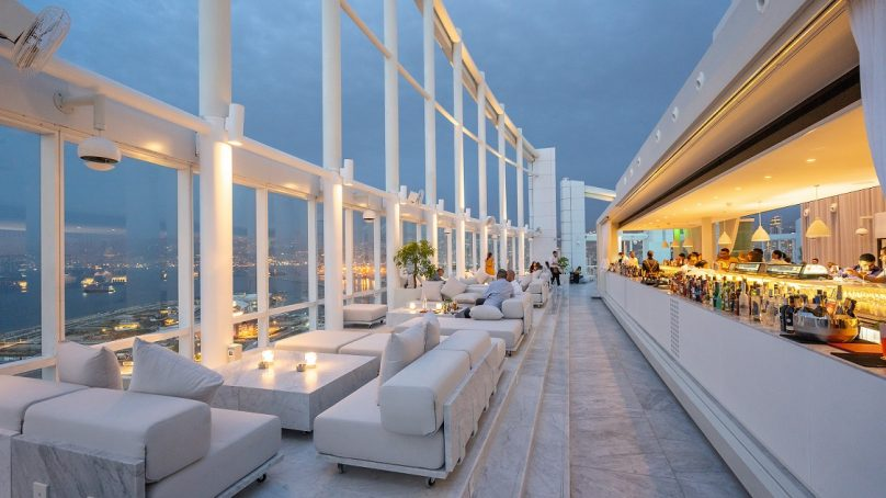 Beirut's highest lounge reopens with a new look designed by Bernard Khoury