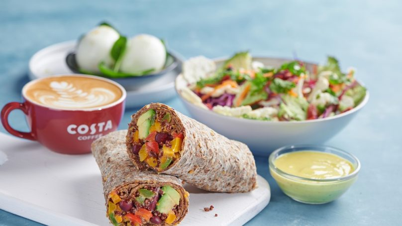 Costa Coffee introduces a healthy food range across the UAE