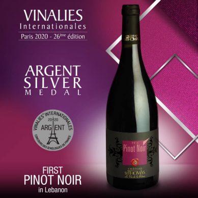 Pinot Noir St Thomas 2015 receives Silver Medal at Vinalies Internationales – Paris 2020