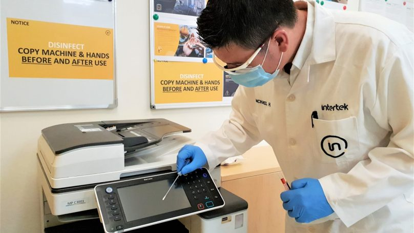 Intertek Protek launches surface hygiene testing for workplaces in the UAE